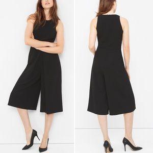 WHBM | Black Sleeveless Culotte Jumpsuit